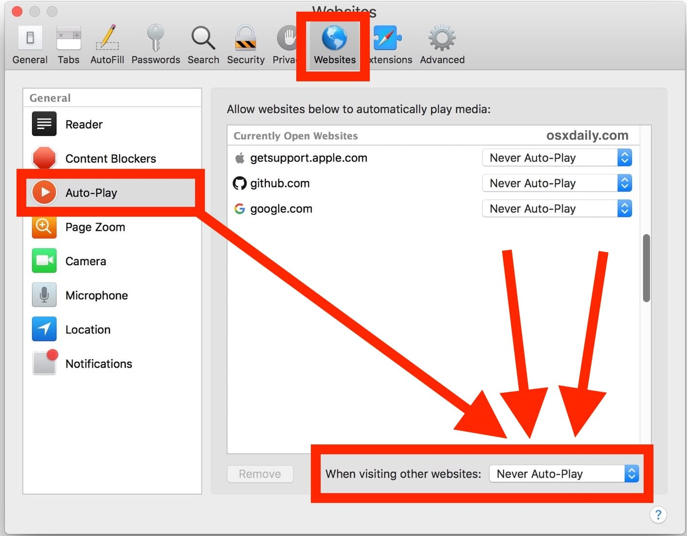 How to Disable Auto-Play in Safari on Mac for All Video & Audio | OSXDaily