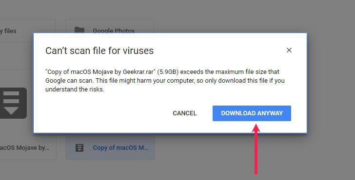 Fix Google Drive Download Limit